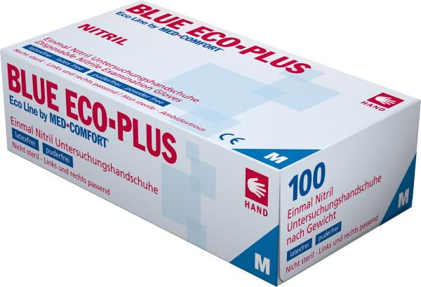 MED-COMFORT BLUE ECO-PLUS Nitril-Handschuhe blau, Box à 100 Stück