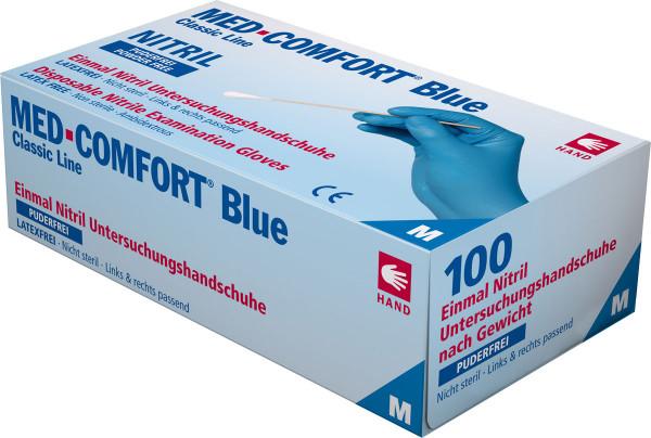 MED-COMFORT BLUE Nitril-Handschuhe, Box à 100 Stück